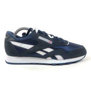 Reebok CL Classic Nylon Blue Shoes Sneakers 39749